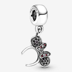 📿Disney Minnie Mouse Pavé Headband Dangle Charm